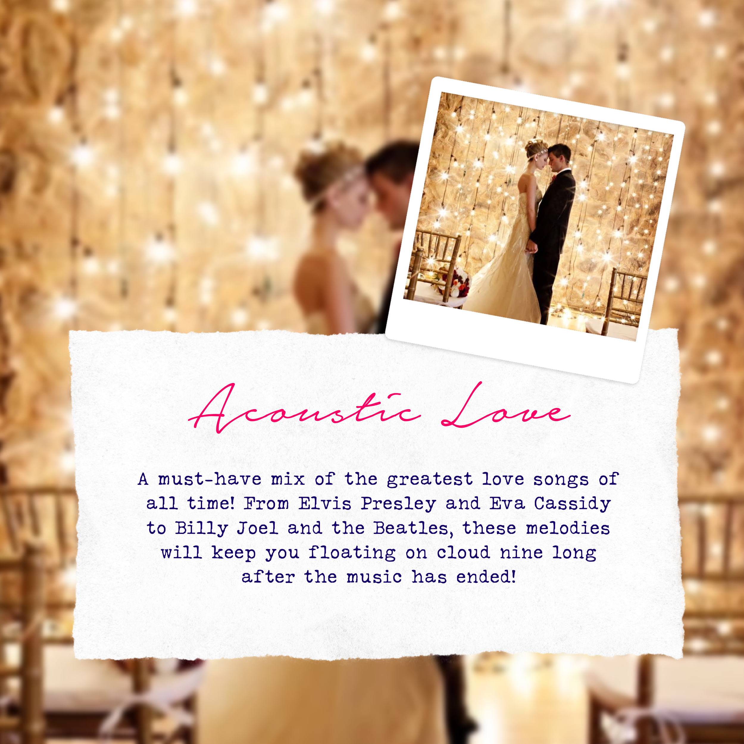 wedding music style - acoustic love